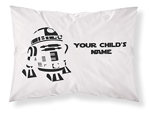 Customizable, Starwars Themed Pillowcase, Featuring R2D2! Personalized With Your Child's Name - Perfect Gift For Boys Of All Ages! by PersonalizedPillowcase