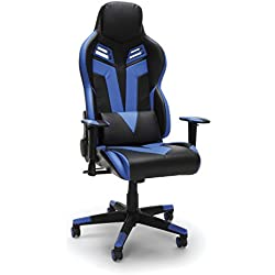 RESPAWN-104 Racing Style Gaming Chair - Reclining Ergonomic Leather Chair, Office or Gaming Chair (RSP-104-BLU)