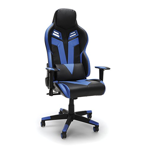 RESPAWN-104 Racing Style Gaming Chair - Reclining Ergonomic Leather Chair, Office or Gaming Chair (RSP-104-BLU) OFM Education