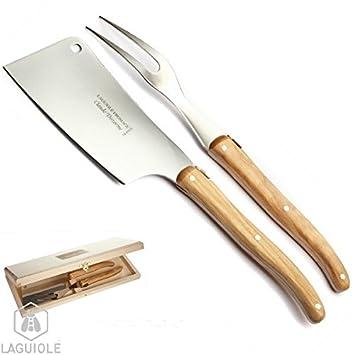 LAGUIOLE Estuche Lujo 6 cuchillos diseño Línea madera-metal ...