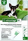 Advantage for Dogs 0-10 Lbs Green 4 Applications