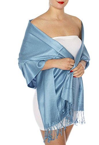 Pashmina Shawl, Women's, by SERENITA, wedding scarf, 64 Denim