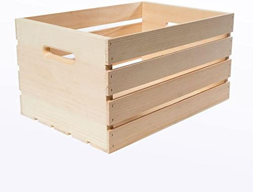 18 x 12.5 x 9.5 Large Unfinished Pine Wood Crate 3-Pack
