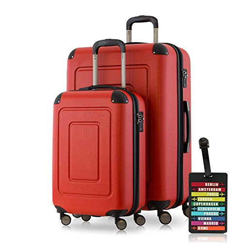 Happy Trolley Luggage Set, Red (Rot)
