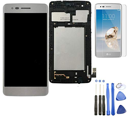 - Eaglestar Compatible LCD Full Assembly Display Screen Touch Digitizer Parts Replacement with Frame Tape for LG Aristo M210 MS210 / Phoenix 3 K8 2017 5''+Frame Tape-Silver