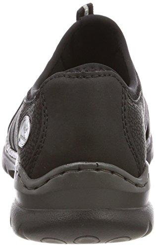 Sneaker L32t0 Rieker Schwarz Weiss Damen Tn0SXnqW1