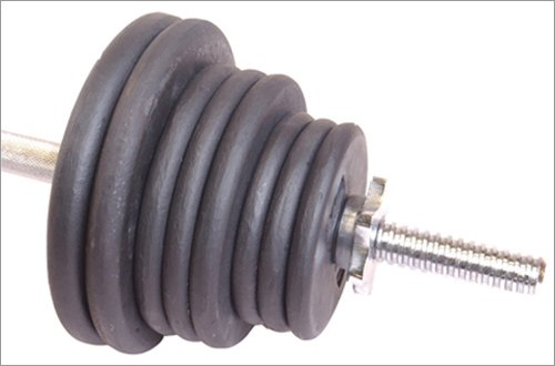 Ader Regular 100 Lb Barbell Set Grey Plates by Ader Sporting Goods