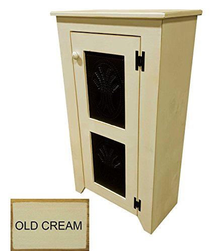 Punched Tin Cabinet (Old Cream)