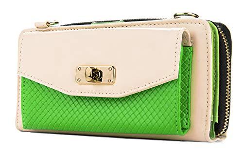 (Cream & Lime Womens Venice Wallet Case for BLU Win HD/Win Jr/Vivo 4.8 HD)