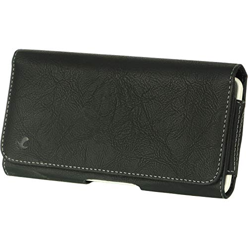 5.5 Inch 6 Inch Leather Carrying Case Pouch Holster Compatible with Huawei, LG, Motorola, Nokia, Panasonic]()