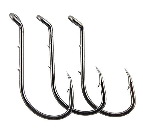 JSHANMEI Octopus Barb Fishing Hooks Beak Baitholder Hook with 2 Baitholder Barbs Jig Fish Hooks (1# (Pack of 200))