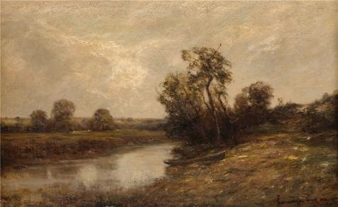 High Quality Polyster Canvas ,the Reproductions Art Decorative Prints On Canvas Of Oil Painting 'Edward Gay,Eastchester Creek Near Pelham Bridge,1911', 16x26 Inch / 41x66 Cm Is Best For Bar Decor And Home Decor And Gifts