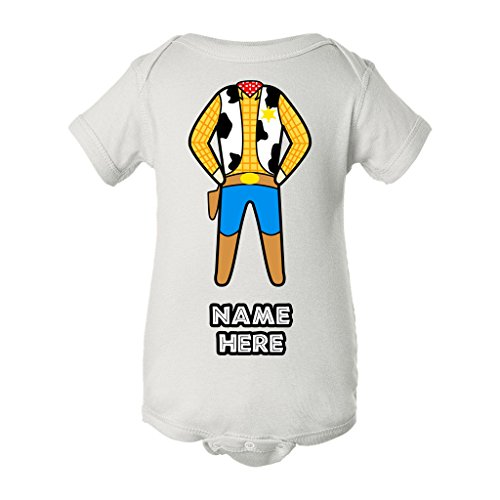 Woody Toy Story Personalized Custom Name Baby BodySuit (Toy Story Girl Name)