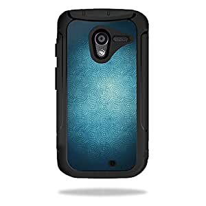 MightySkins Protective Skin Decal Cover for OtterBox Defender Motorola Moto X Case Sticker Skins Blue Swirls
