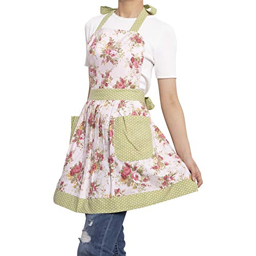 NEOVIVA Kitchen Aprons for Women with Pockets, Durable Women's Chef Aprons for Cooking, Baking, BBQ and Gardening, Style… 5