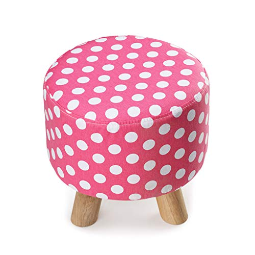 KSWD Ottoman Foot Stool Footstool Pouffe Pouf Small Low Foot Rest Solid Color Dot Wooden for Kitchen Max Load 300 ()