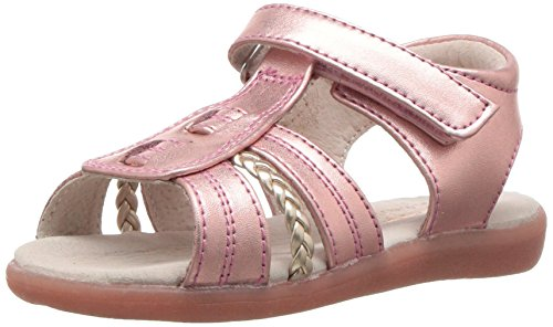 See Kai Run Girls' Hadley Flat Sandal, Rose Gold, 6 M US Toddler