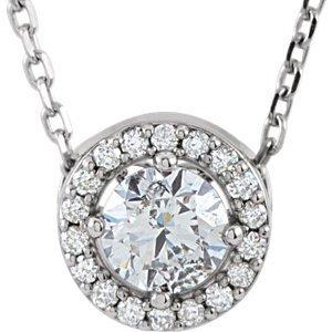 14K rond blanc 4mm Forever classique «¢ en or 9et diamant 0,04carat or 40,6cm-Collier Femme