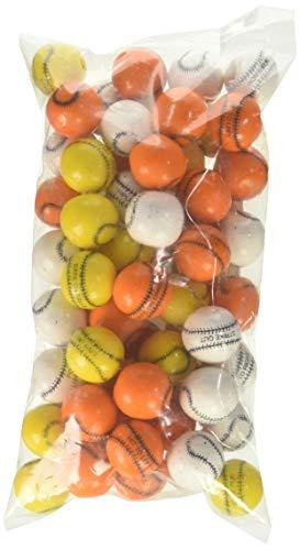 Oak Leaf Baseballs Bouble Gum Assorted Colors, 1 Pound ()