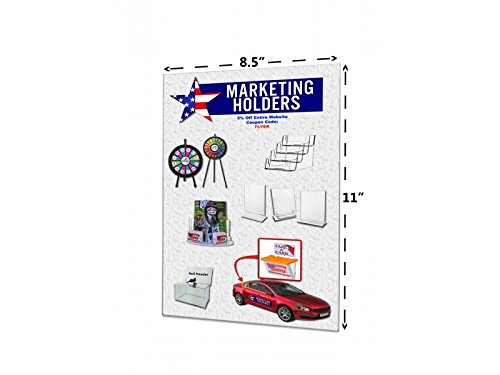 Marketing Holders Wall Mount Sign Holder NO Holes Large or Small Literature Frame Vertical Portrait Clear Acrylic Signs (5, 8.5'' x 11'') by Marketing Holders