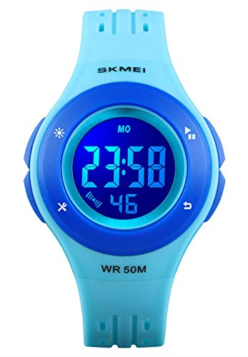 Kid Watch LED Multi Function Digital Watch, 50m Waterproof Sport Alarm Stopwatch Watches for boy Girl Children Watches Gift