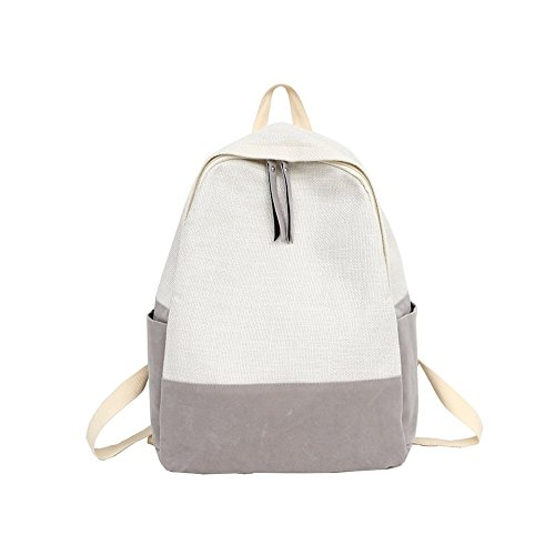 Slendima 2018 Fashion Contrast Color Outdoor Casual Linen Backpack,Women Travel School Student Bag - 4 Colors is Avilable by Slendima