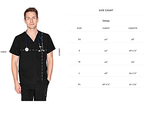 FIGS Chisec Three-Pocket Scrub Top for Men – Tailored Fit, Super Soft Stretch, Antimicrobial, Anti-Wrinkle Medical Scrub Top