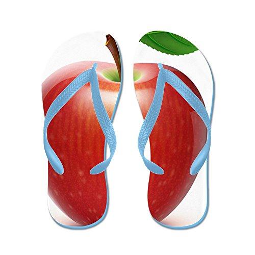 CafePress Red Apple - - Flip Flops, Funny Thong Sandals, Beach Sandals Caribbean Blue