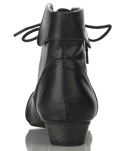 Breckelles Ladies Indie-11 Bootie Boot Black 6.5
