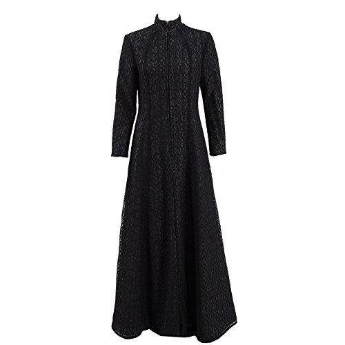 VOSTE Cersei Costume Halloween Cosplay Party Show Queen Black Long Dress for Women (Medium, Black) ()