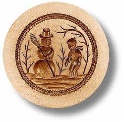 Snowman springerle cookie mold by Springerle Joy