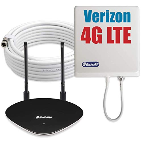 ignal Booster Tri-Band Verizon 4G LTE Cellular Booster AT&T Verizon T-Mobile Sprint 2G/3G for Home Supports 5,000 Sq Ft All Carriers ()