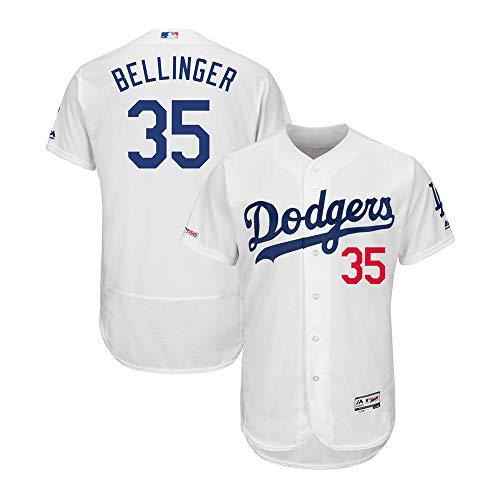 M & N Los Angeles Dodgers Cody Bellinger #35 Flexbase Collection Player Men's White Jersey (White, L) (Dodgers Jerseys La)