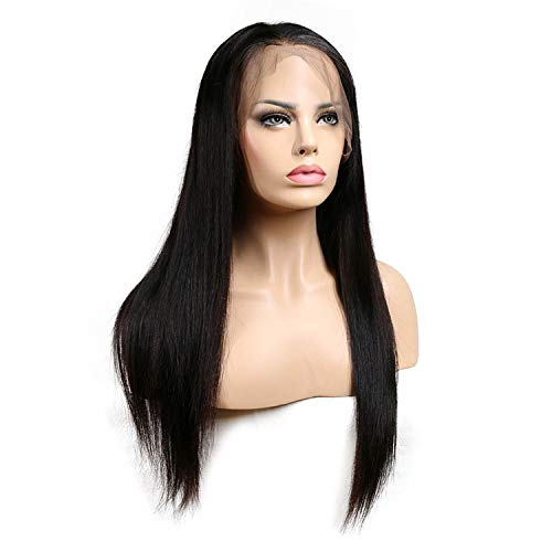 Straight Wigs Women Lace Front Human Hair Wigs Hair Lace Front Wig Pre Plucked Bleached Knot,22inches,150%]()