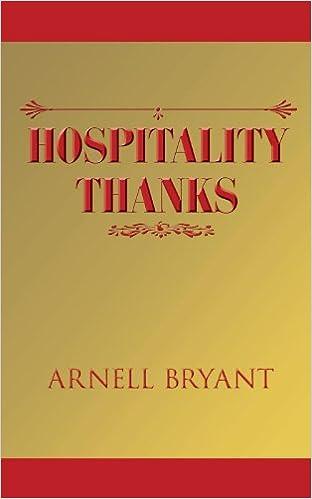 Amazon.com: Hospitality Thanks (9781425982904): Arnell Bryant: Books