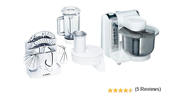 Bosch MUM46CR1, Blanco, 5040 g, 265 mm, 265 mm, 305 mm, 220 - Robot de cocina: Amazon.es: Hogar