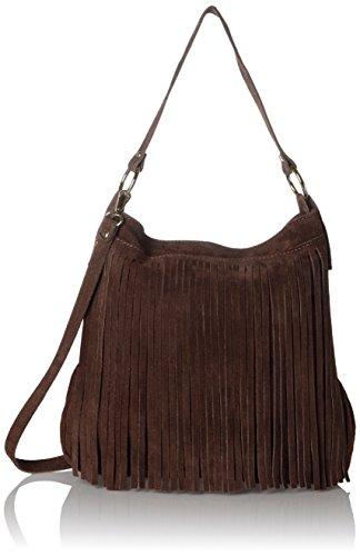 Bags4Less Damen Tipi Umhängetasche, 20x35x38 cm Braun (Dunkelbraun)