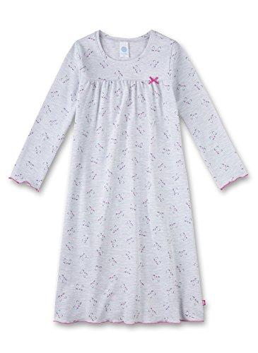 Sanetta Mädchen Nachthemd 231824, Grau (Hellgrau Melange 1646), 140