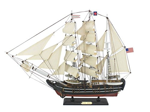 Morgan Model Ship (Hampton Nautical Wooden Charles W. Morgan Model Whaling Boat,)