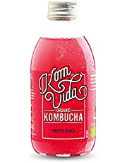 Té kombucha. Komvida. Kit sabor Frutos rojos. 12 botellas de kombucha organic. 250 ml. Envío en frío.