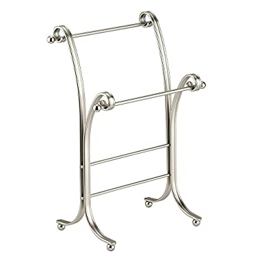 InterDesign York Lyra Fingertip Bath Hand Towel Holder Stand , Satin