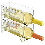 mDesign Fridge Binz Stackable Wine Holder