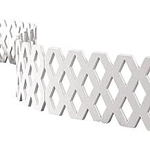 Lattice Fence Garden Border Set - 4 Pc, White