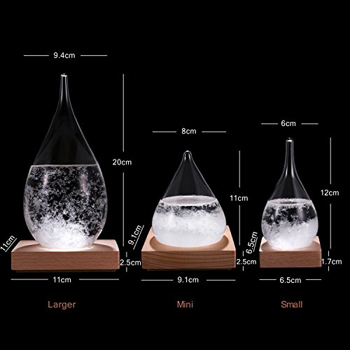 -[ WELLDONE® Creative Fashion Desktop Water Drop Storm Glass, Weather Forecast Bottle,17th Cent