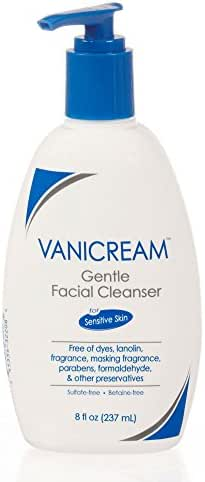 Vanicream Gentle Facial Cleanser with Pump Dispenser | Fragrance, Gluten and Sulfate Free | For Sensitive Skin | 8 Ounce