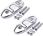 Boat Flip Up Cleat 316 Stainless Steel Mooring Accessories 4-1/2 Inch, Marine Folding Dock Cleat Pack of 2, In