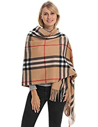 Classic Plaid Blanket Scarf, 27 Fashion Patterns Cashmere Feeling, Cozy Warm for Winter