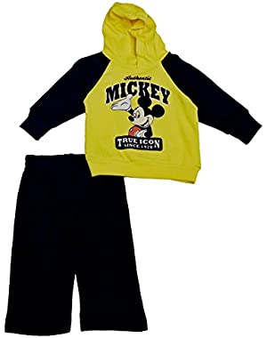 Disney Baby Boys' Mickey Mouse Infant Boys 2 Piece Fleece Set