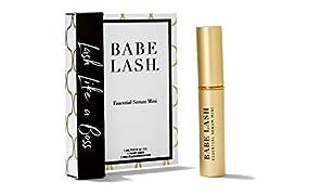 Babe Lash Eyelash & Brow Enhancer Serum for Natural, Fuller & Longer Looking Eyelashes - Eyelash Booster Hydrates Lashes - Used on Lash, Brow & Lash Extensions - 1 ML