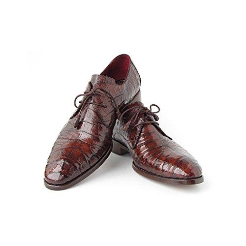 Paul Parkman Men's Brown Shoes Genuine Crocodile Derby Shoes B07GL13WLV Shoes Brown e640de